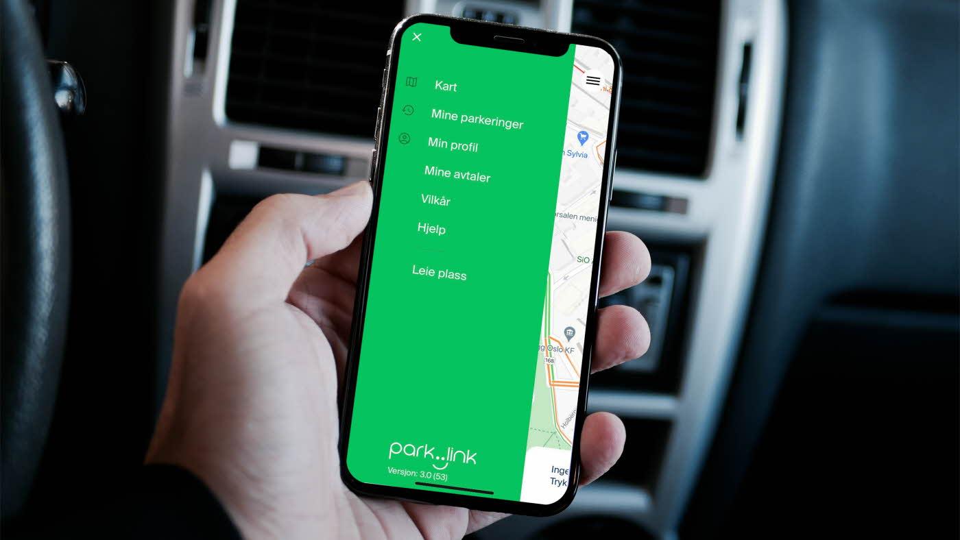Bilde av appen for enklere parkering med ParkLink