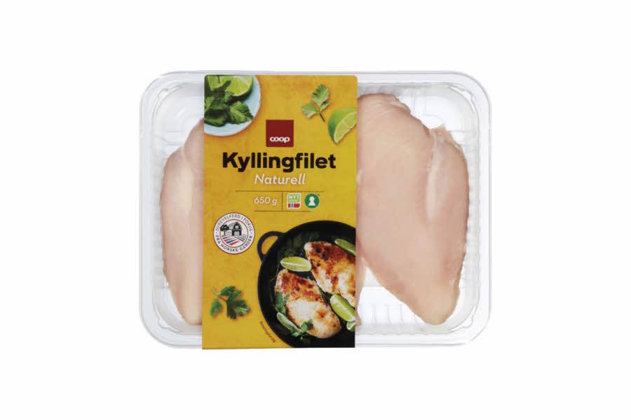 Fersk kyllingfilet i pakke