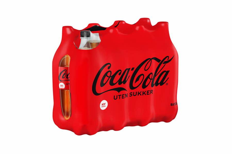 Pakke med Coca-Cola-flasker