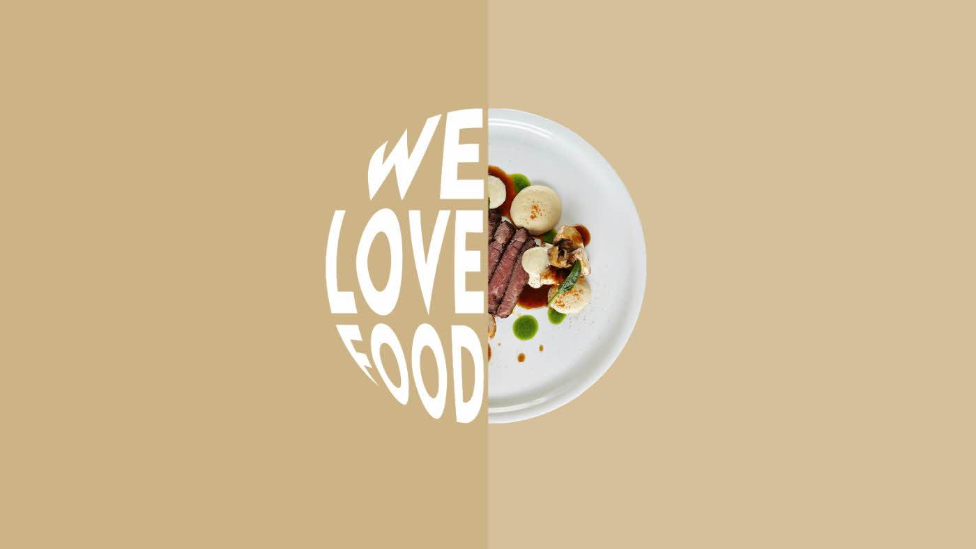 We Love Food design til hjemmesiden - beige med biff