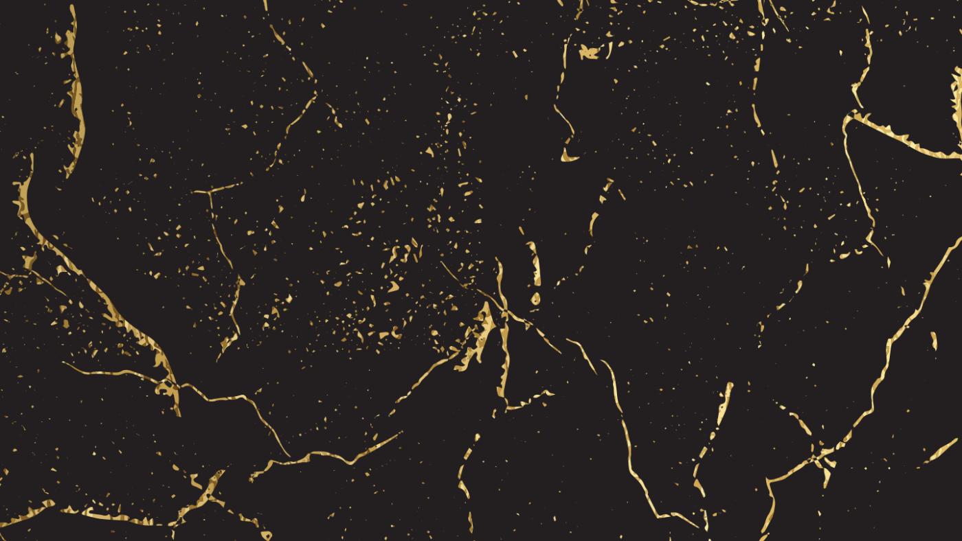 svart og gull marmormønster