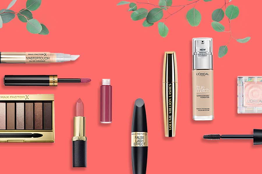 Utvalg makeup fra L'Oreal Paris og Max Factor
