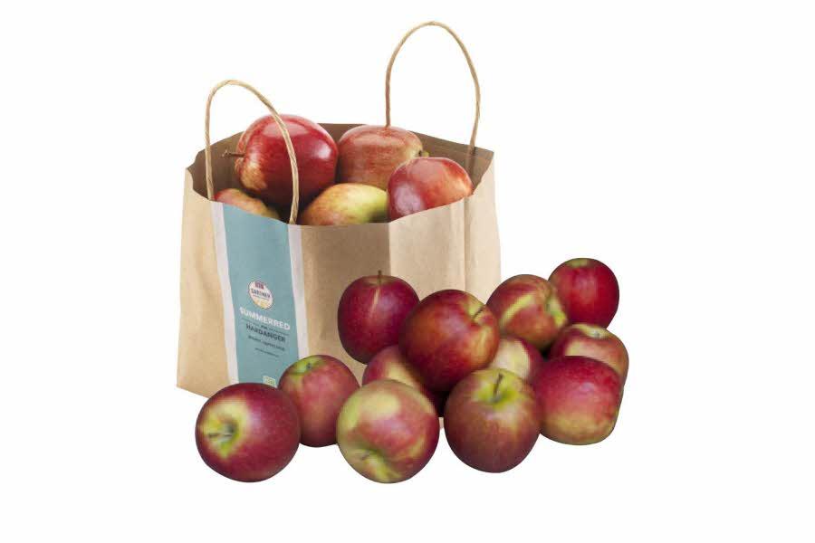 Papirpose med norske epler