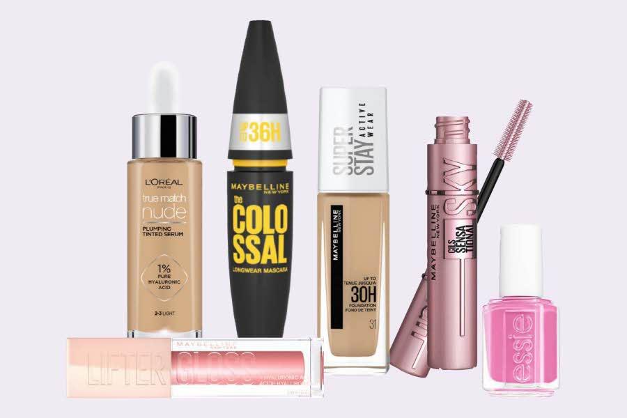Makeup fra L'Orèal Paris, Maybelline og Essie
