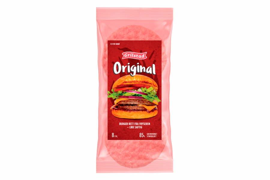 8-pakning frosne hamburgere