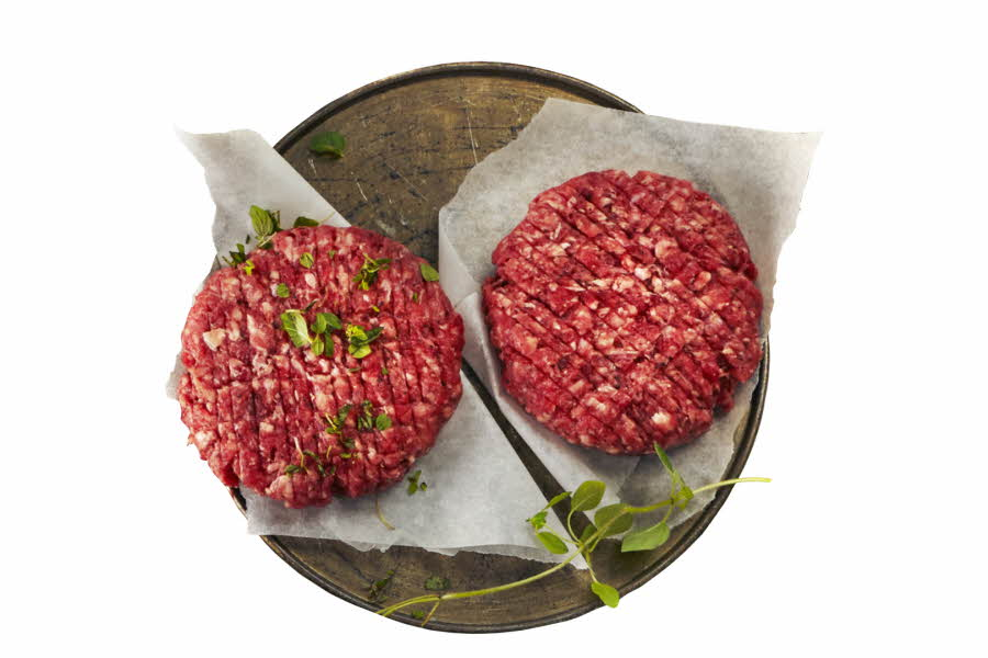 rå angus burgere