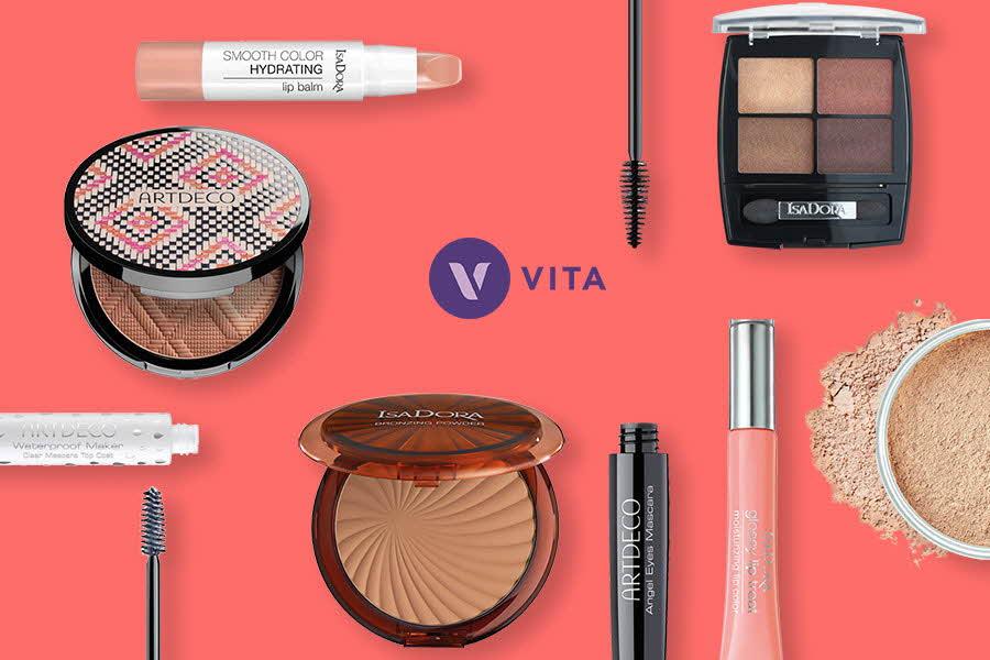 Produktbilder av makeup
