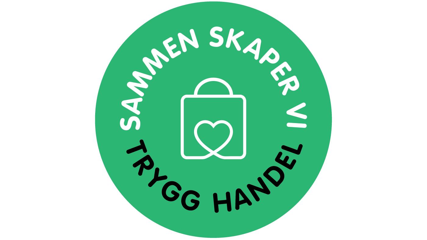 Logo med tekst: Sammen skaper vi trygg handel