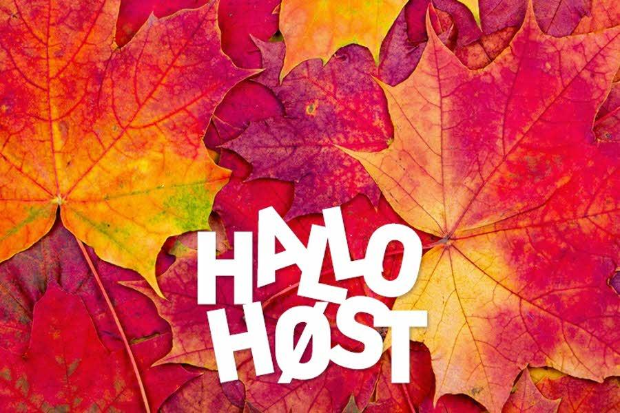 hallo høst, logo med blader
