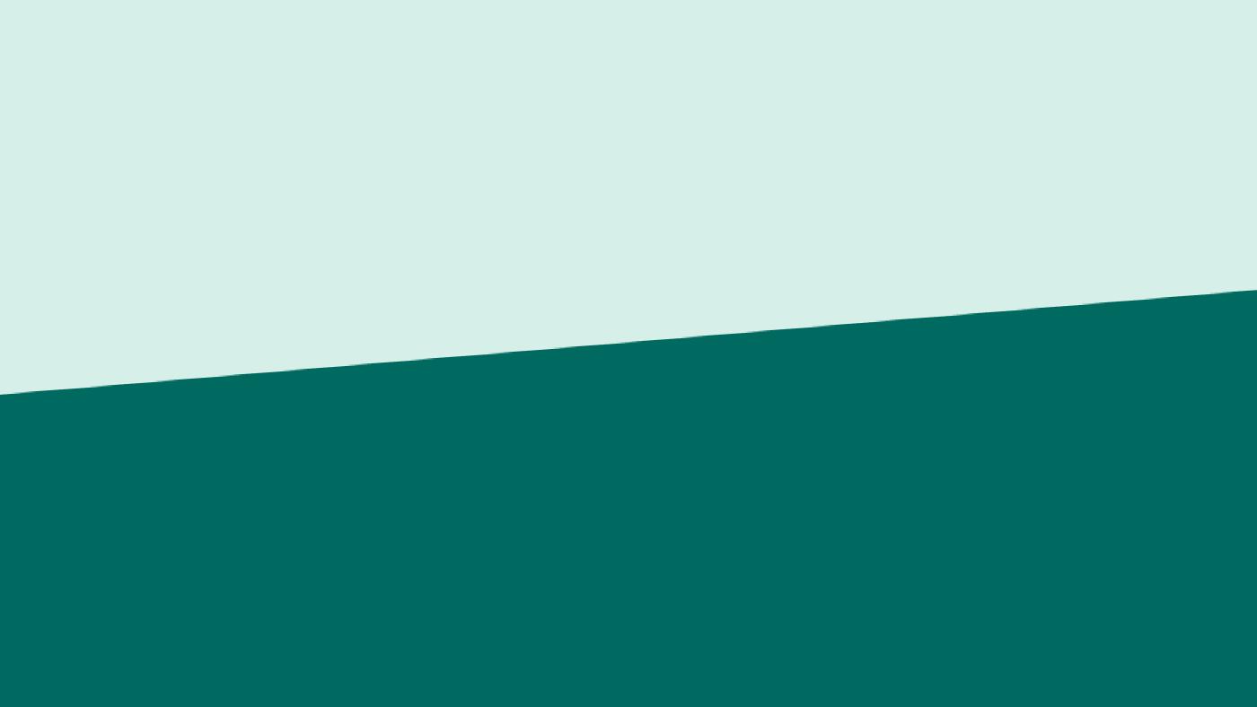 Lys blågrønn og mørk blågrønn farge splittet i midten