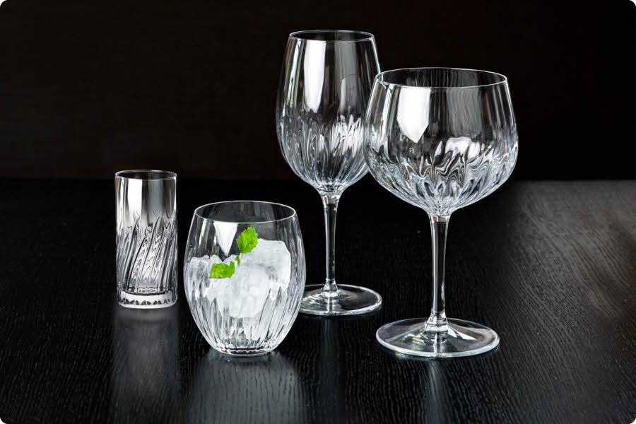 Ulike typer glass fra Luigi Bormioli Mixology-serien