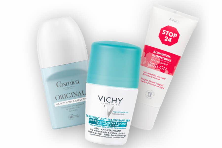 Deodoranter fra ulike merkevarer