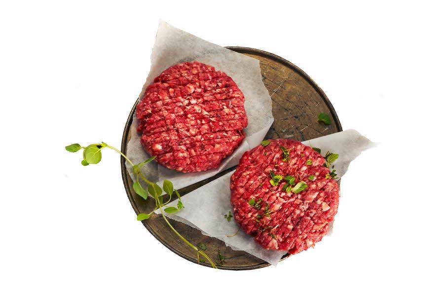 2 norske ferske hamburgere