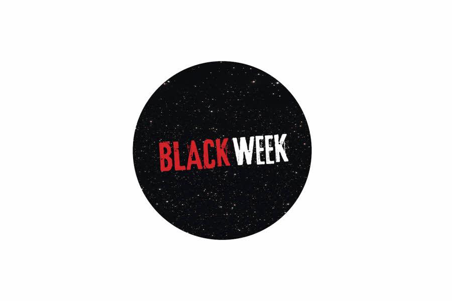 sort sirkel med black week
