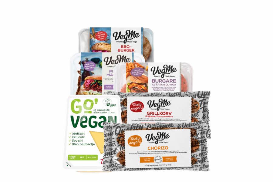 Utvalgte veganske produkter