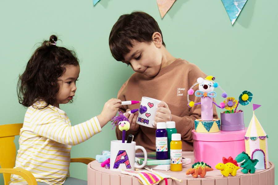 To barn lager ting med hobbykit'