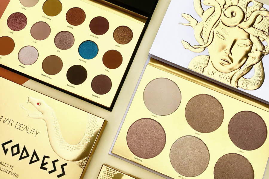 sminkepalletter fra Lunar Beauty og Ofra Cosmetics