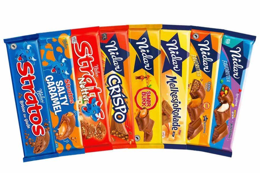 Store sjokoladeplater fra Nidar