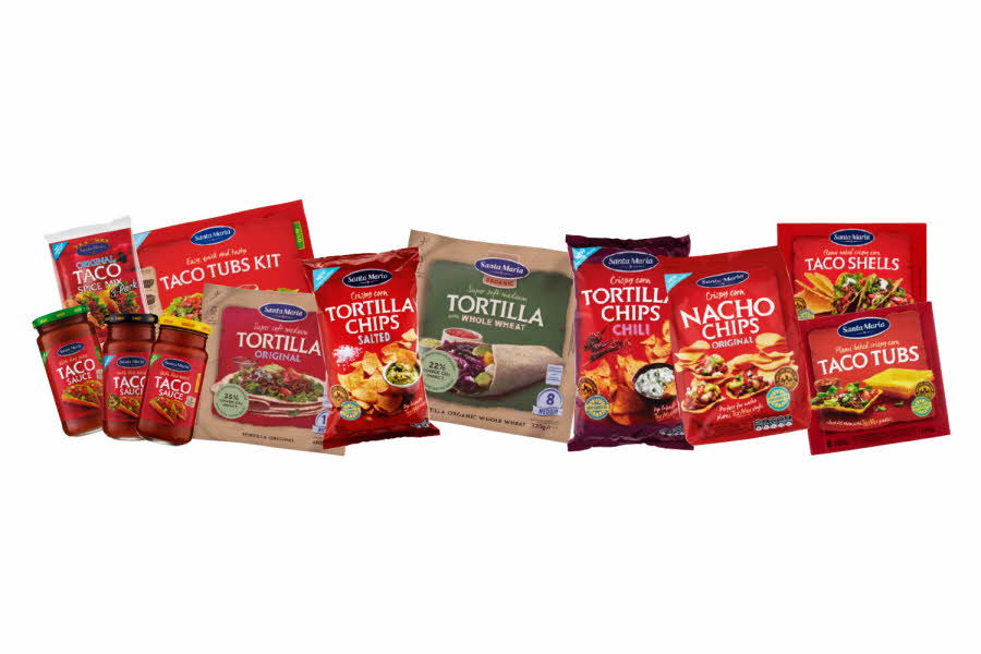 Utvalgte taco produkter fra Santa Maria