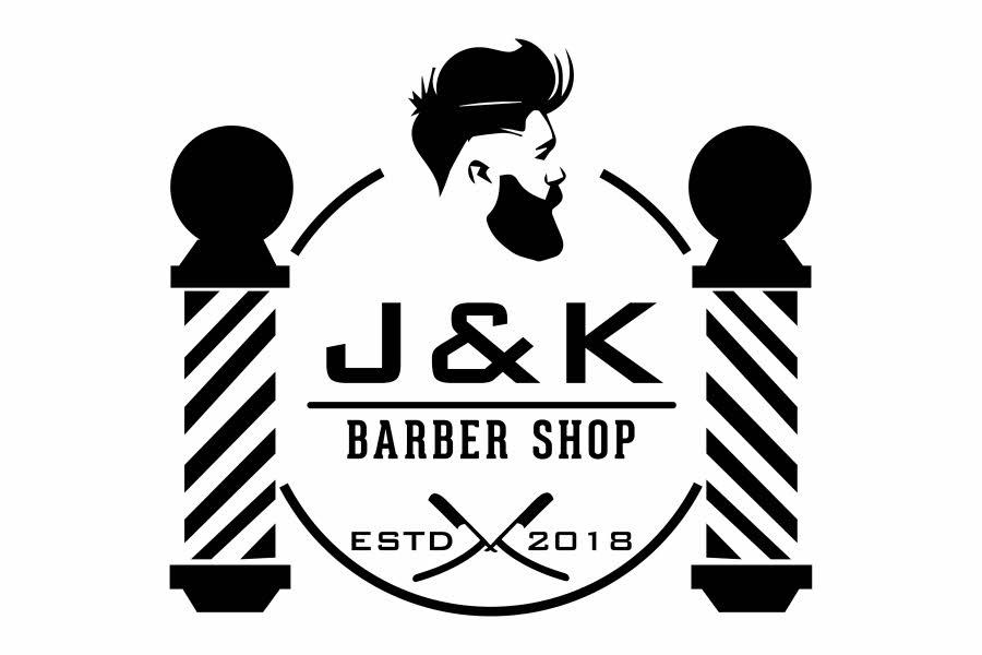 Bilde av logoen til J&K Barber Shop