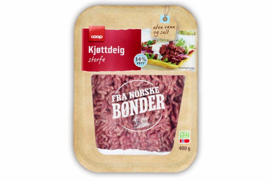 Fersk kjøttdeig fra den norske bonden