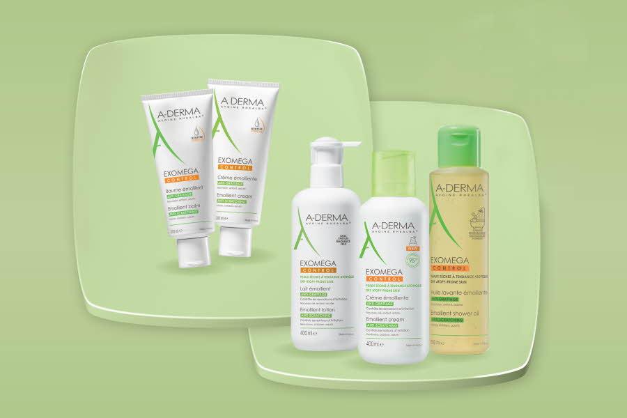Utvalgte produkter fra A-derma